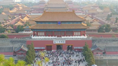 Panoramic View of Palace Museum, Beijing, China