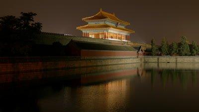 Palace Museum at Night, Beijing, China