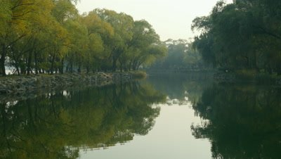 Kunming Lake in the Summer Park, Beijing, China