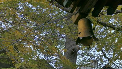 Autumn Leaves and Temple Bell