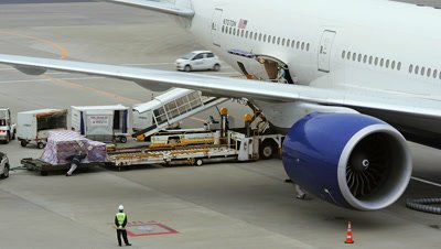 Cargo Loading to Airplane, Narita, Japan