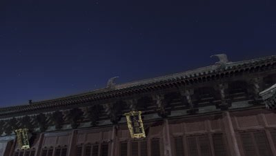 Starry Sky over the Fengguo Temple, Yi County, Liaoning, China