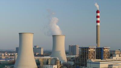 Smoke Emanating from the Thermal Power Plant, Yanjiao, Hebei, China