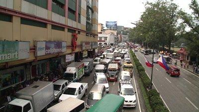 Traffic Jam in Philipines