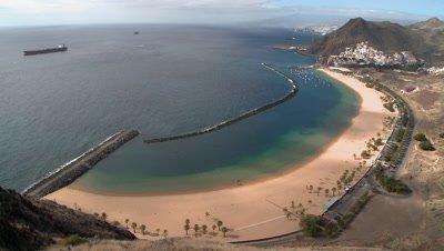 Playa de Las Teresitas in Tenerife, Spain