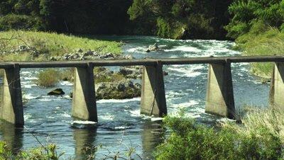 Shimizu Ohashi Bridge over Shimanto River in Kochi Prefecture, Japan