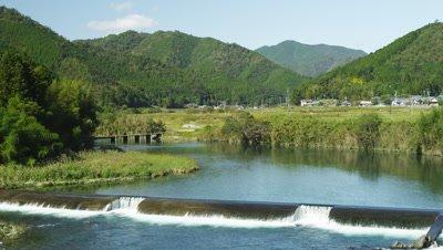 Ittohyou Chinkabashi Bridge over Shimanto River in Kochi Prefecture, Japan
