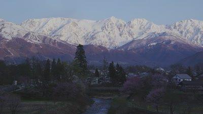 Hakuba mountain range in the morning