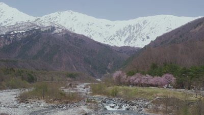 Hakuba mountain range and Matsukawa River