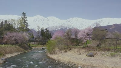 Hakuba mountain range and Himekawa River