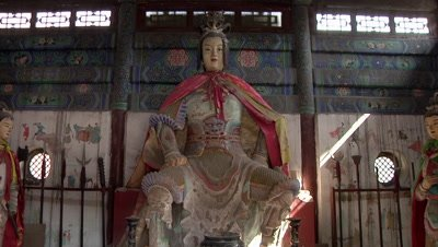 The Lady General Statue in Pingding, Yangquan, Shanxi, China