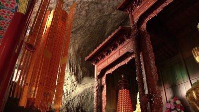 Buddhist Temple at Gypsum Hill in Shanxi, Jinzhong, China