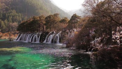 Waterfalls in Jiuzhaigou Valley, Sichuan, China