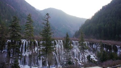 Pearl Shoal Waterfalls, Jiuzhaigou Valley, Sichuan, China