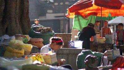 Vendors in Dali, Yunnan, China