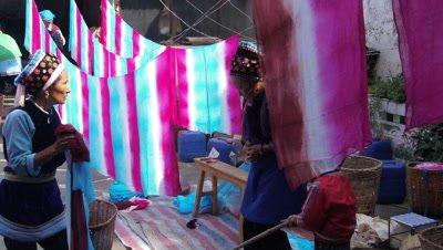 Women Dying the Fabric, Dali, Yunnan, China