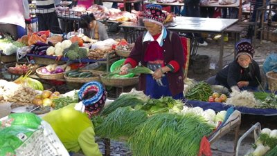 Vegetable Vendors in Dali, Yunnan, China