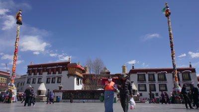 Jokhang Square, Lhasa, Tibet