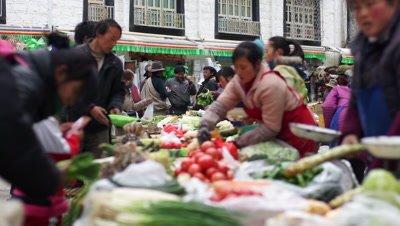 Market in Lhasa, Tibet