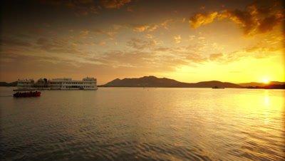 Taj Lake Palace Hotel on Lake Pichola at Sunset, Udaipur, India