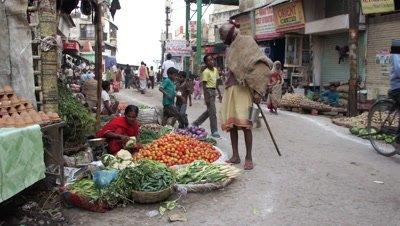 Vegetable Vendor in Varanasi, India