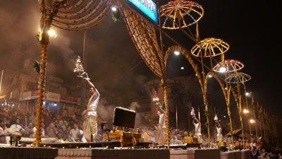 Puja Performed in Varanasi, India