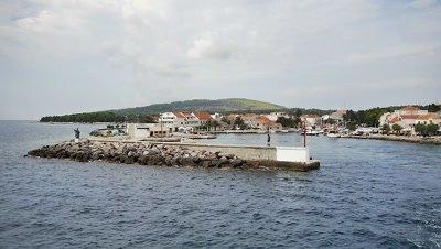 The Wharf of Hvar in Croatia