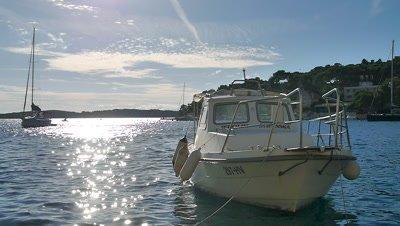 The Boat on the Adriatic Sea, Hvar Island, Croatia