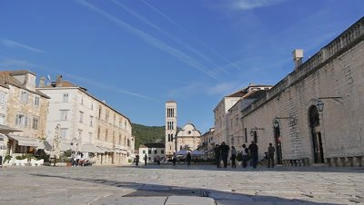 Town Square in Hvar, Croatia