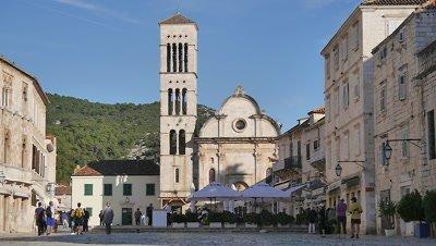 Town Square in Hvar, Croatia
