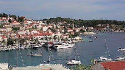 The Harbor of Hvar in Croatia