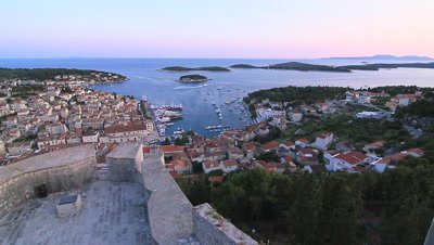 View from Town of Hvar in Croatia