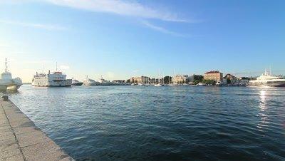 The Harbor of Zadar in Croatia