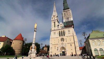 Zagreb Cathedral in Kaptol, Zagreb, Croatia