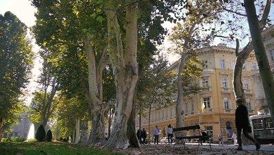 Park in Zagreb, Croatia