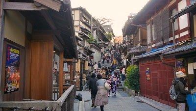 The Street to Kiyomizu Temple, Kyoto, Japan