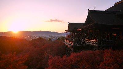Kiyomizu Temple at Sunset, Kyoto, Japan