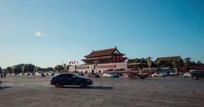 Time Lapse of Tiananmen Square, Beijing, China