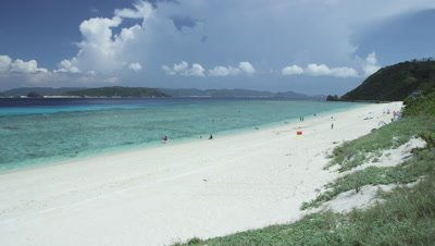 Nishibama Beach in Aka Island, Okinawa Prefecture, Japan