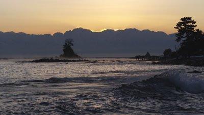 Amaharashi Coast in Takaoka City, Toyama Prefecture, Japan