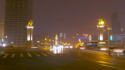 Time Lapse of Bei'an Bridge, Tianjin, China