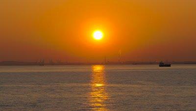 Sunset over the Sea, Yokohama, Kanagawa, Japan