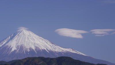 Lenticular clouds over Mt. Fuji