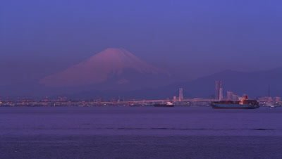 View of Mt. Fuji from Tokyo Bay Aqua-Line Umihotaru