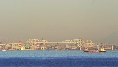View of Tokyo Gate Bridge from Tokyo Bay Aqua-Line Umihotaru