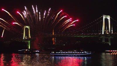 Tokyo Odaiba Rainbow Fireworks