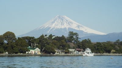 Mt. Fuji and Ose Shrine in Japan