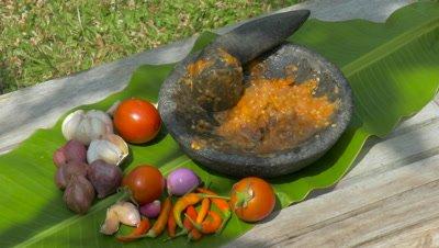 Indonesian Sambal Sauce, Ubud, Bali, Indonesia