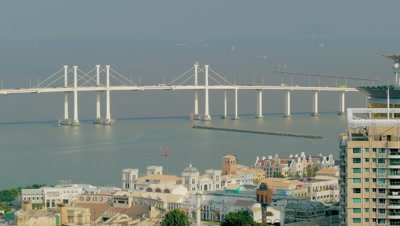 View from Guia Hill, Amizade Bridge, Macau, China