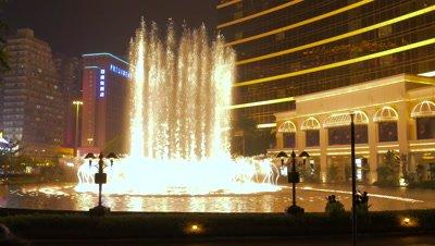 Dancing Fountain in Front of Wynn Casino Macau, Macau, China